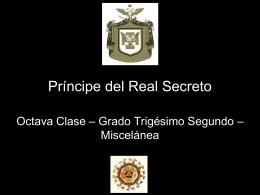 32° Grado – Principe del Real Secreto