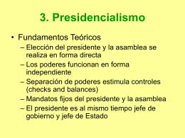 3. Presidencialismo