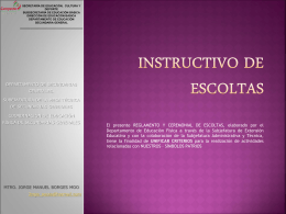 Instructivo de escoltas - Espacio de Profe Edgar