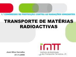 Transportes de matérias radioactivas