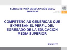 Competencias Genericas - Subsecretaría de Educación Media