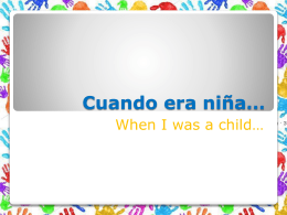 Cuando era niña…