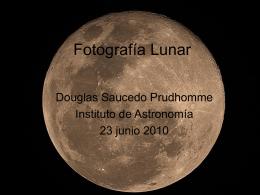Fotografía Lunar - Instituto de Astronomía