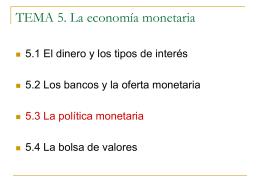 TEMA 5. La economía monetaria