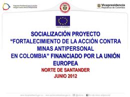 Presentación socialización Proyecto Fortalecimiento en Acción