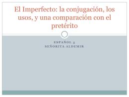 El Imperfecto.97