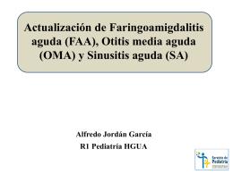 manejo de faringoamigdalitis aguda, sinusitis aguda y otitis media