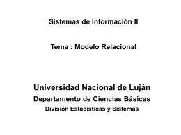 Legajo - Universidad Nacional de Luján