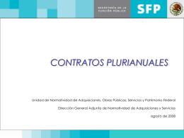 El contrato multianual o plurianual