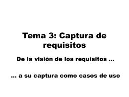 Tema 3: Captura de requisitos