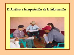 Técnicas para el Análisis e interpretación de la información