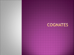 Cognates - WordPress.com