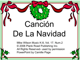 Canción De La Navidad - Bulletin Boards for the Music Classroom