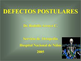defectos postulares - 7mo Semestre UCIMED II-2012