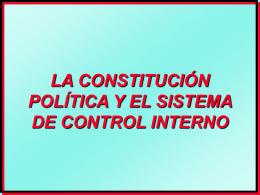la constitución política y el sistema de control interno
