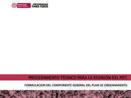 procedimiento técnico para la revisión del pot
