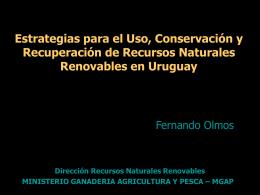 Estrategias para el Uso, Conservación y Recuperación de Recursos