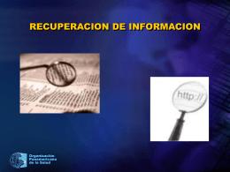recuperación de información - BVS