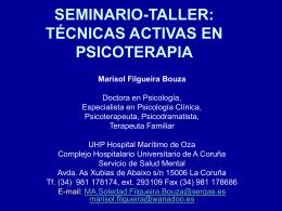 TÉCNICAS ACTIVAS EN PSICOTERAPIA