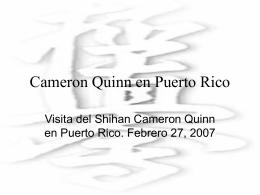 Cameron Quinn en PR