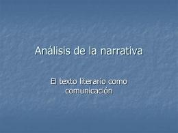 Análisis de la narrativa (Cameron Stephen)