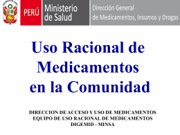 USO RACIONAL DE MEDICAMENTOS EN LA