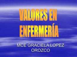 VALORES EN ENFERMERÍA - Desarrollo Profesional