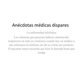 Anécdotas médicas dispares (125952)