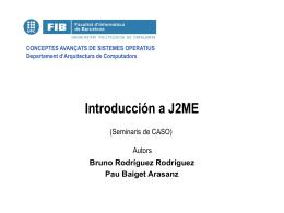 Principales paquetes de J2ME