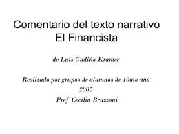 EL FINANCISTA de Luis Gudiño Kramer