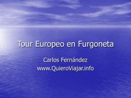 Tour Europeo en Furgoneta