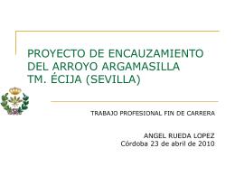 ENCAUZAMIENTO DEL ARROYO ARGAMASILLA