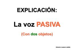 explicación pasiva con un objeto - Teacher