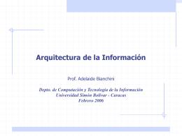 Arquitectura de la Información - LDC