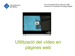 Utilització del vídeo en pàgines web
