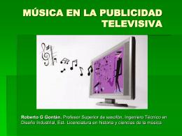 música en la publicidad televisiva