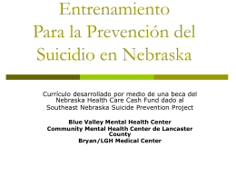 Nebraska Prevention of Suicide Training (N-POST)