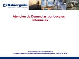 Atencion de Denuncias por Locales Informales