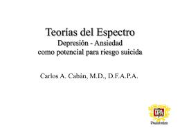 Teoria del espectro Depresion Ansiedad