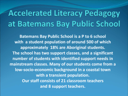 Accelerated Literacy at Batemans Bay Public School