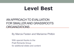 Level Best - Grassroots Evaluation Presentation