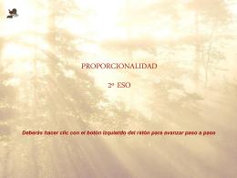 Proporcionalidad (PowerPoint)