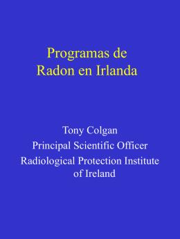 Programas de Radon en Irlanda