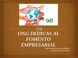 ONG DEDICAS AL FOMENTO EMPRESARIAL