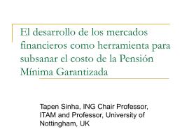 Pensión Mínima Garantizada en México