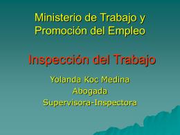 Ley General de Inspección del Trabajo