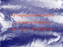 Inspeccion de Centros y Servicios