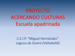 Acercando culturas - CEIP Miguel Hernández