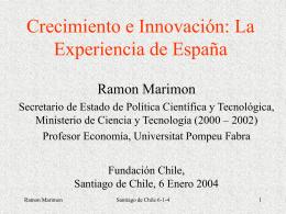 Presentación Sr. Ramón Marimon