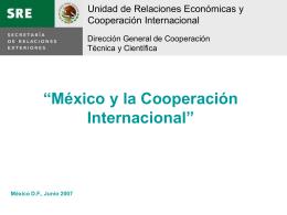México y Cooperación Internacional